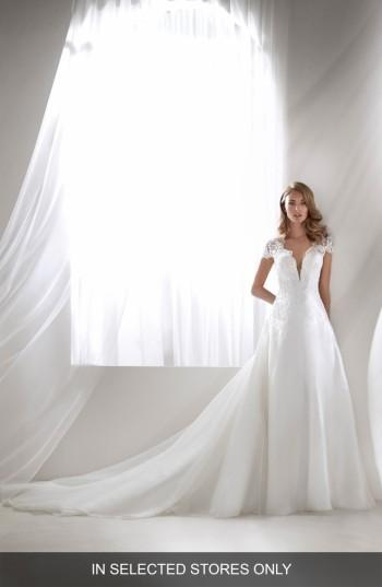 Wedding - Atelier Pronovias Rivera Plunging Lace Bodice Ballgown (In Selected Stores Only)
