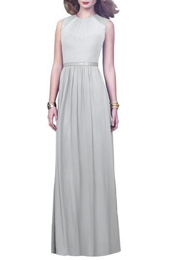 Wedding - Dessy Collection Embellished Open Back Gown