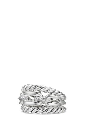 زفاف - David Yurman Stax Three-Row Ring with Diamonds