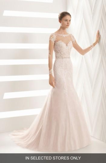 Mariage - Rosa Clara Amor Embroidered Illusion Lace Trumpet Gown