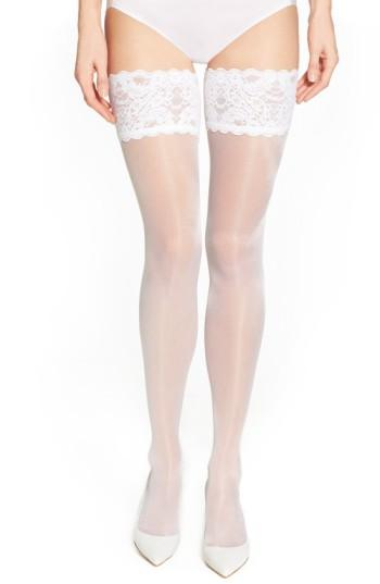 Hochzeit - Wolford Satin Touch 20 Stay-Up Stockings