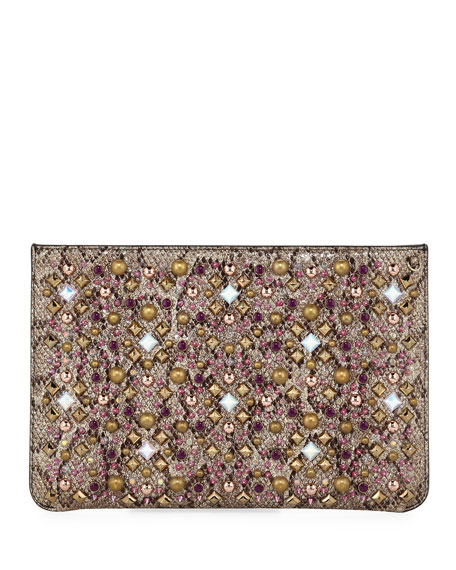 Mariage - Loubiclutch Glitter Clutch Bag
