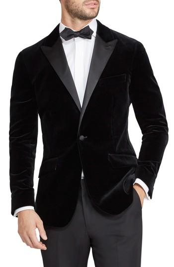 Свадьба - Bonobos Jetsetter Trim Fit Stretch Velvet Dinner Jacket