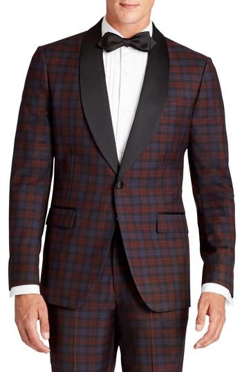 Свадьба - Bonobos Jetsetter Trim Fit Plaid Wool Dinner Jacket