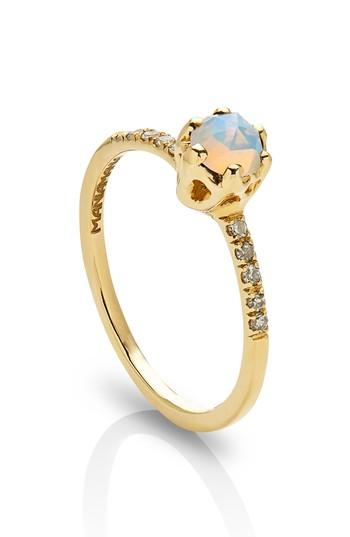Mariage - Maniamania Entity Opal & Diamond Solitaire Ring