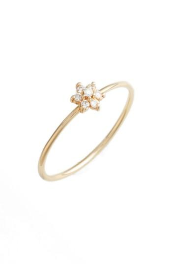 Wedding - Poppy Finch Diamond Flower Stacking Ring