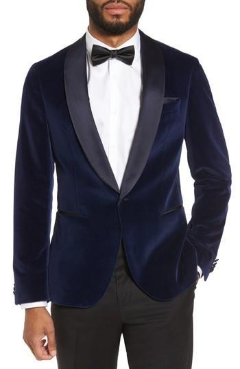 Boda - BOSS Nemir Classic Fit Velvet Dinner Jacket