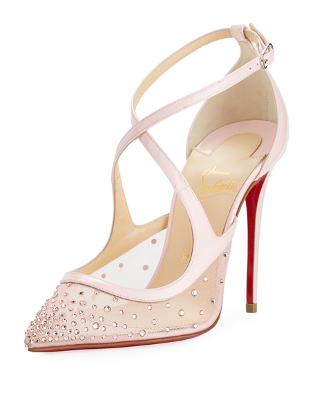 Wedding - Twistissima Crisscross Red Sole Pump