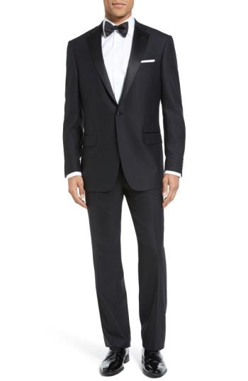 Свадьба - Hart Schaffner Marx New York Classic Fit Black Wool Tuxedo