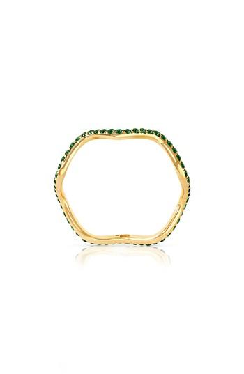 Wedding - Sabine Getty Baby Memphis Tsavorite Wave Band Ring