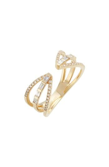 Wedding - EF COLLECTION Open Baguette Queen Diamond Ring