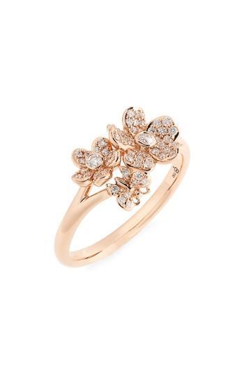 زفاف - Mikimoto Diamond Flower Ring