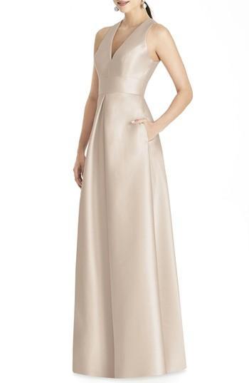 Wedding - Alfred Sung Sleeveless Sateen Gown