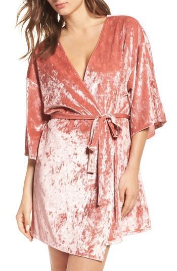 Hochzeit - Chelsea28 Crushed Velvet Robe