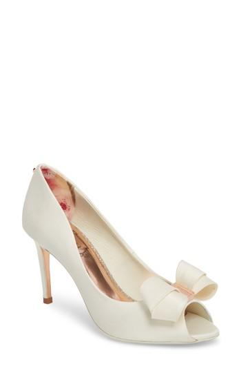 Свадьба - Ted Baker London Vylett Peep Toe Pump (Women)