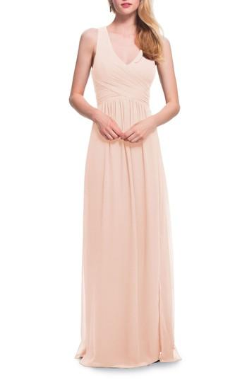 Wedding - #Levkoff Back Cutout Chiffon Gown