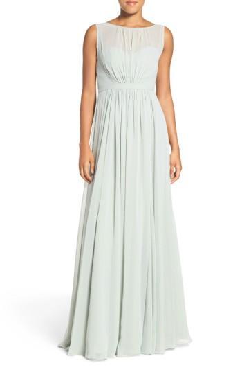 Wedding - Jenny Yoo 'Vivienne' Pleated Chiffon Gown