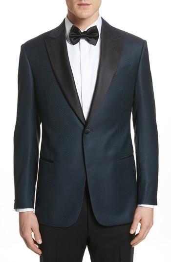 Hochzeit - Emporio Armani G-Line Trim Fit Wool Dinner Jacket