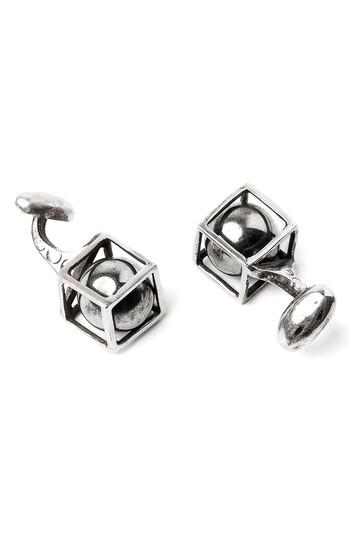 Mariage - title of work Sphere in Cube Cuff Links