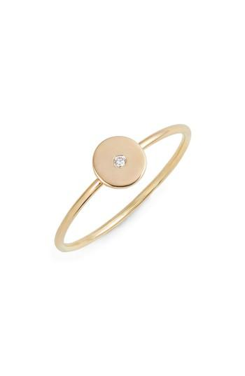 Свадьба - Zoë Chicco Diamond Disc Stackable Ring