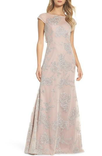 Wedding - Hayley Paige Occasions Embellished Bateau Neck Gown