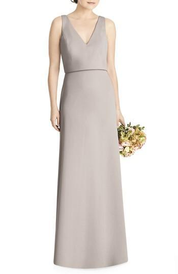 Wedding - JY Jenny Yoo Tie Back Crepe Gown