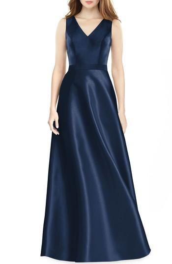 Wedding - Alfred Sung Sleeveless Sateen Gown