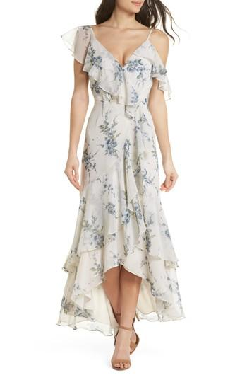 Wedding - WAYF Elanor Ruffle Faux Wrap Maxi Dress