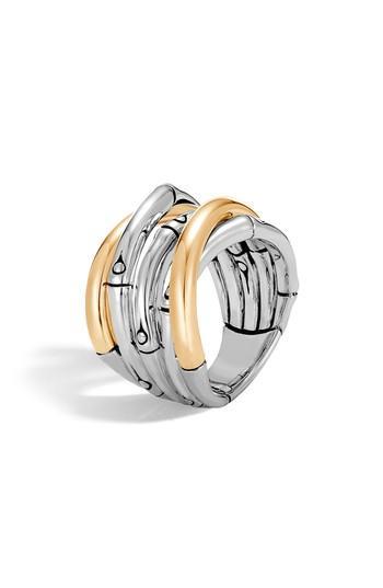 زفاف - John Hardy Bamboo Gold Sterling Silver Ring