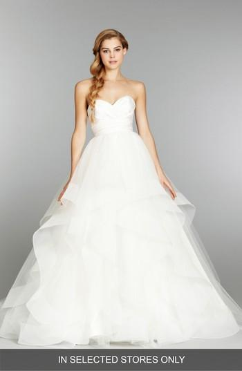 Wedding - Hayley Paige 'Londyn' Silk & Tulle Ballgown (In Stores Only)