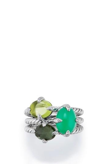 Mariage - David Yurman Chatelaine® Three-Gemstone Diamond Ring