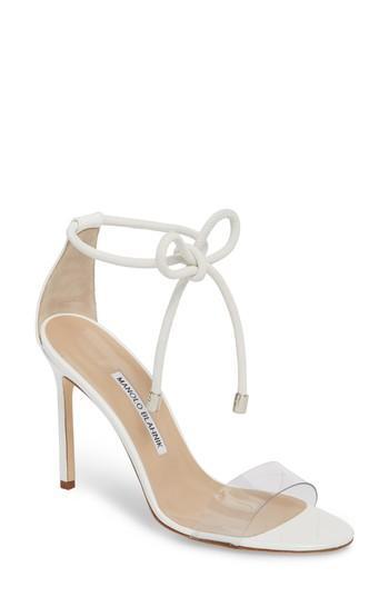 Wedding - Manolo Blahnik Estro Ankle Tie Sandal (Women)