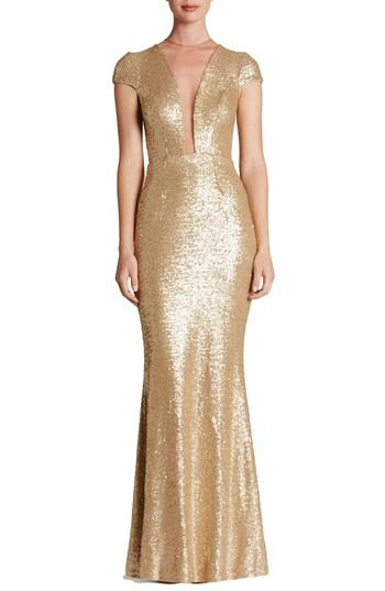 Mariage - Dress the Population Michelle Sequin Gown (Nordstrom Exclusive)