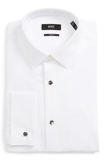 Свадьба - BOSS Jasper Slim Fit Tuxedo Shirt