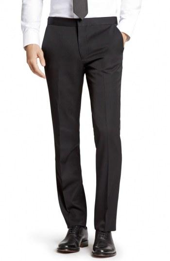 Wedding - Bonobos Flat Front Wool Tuxedo Trousers
