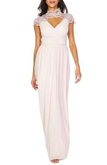 Mariage - TFNC Sanna Lace Trim Chiffon Gown