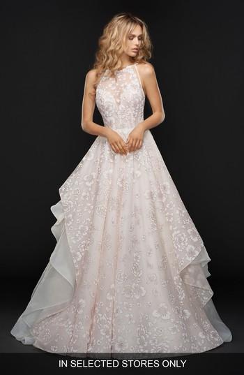 Hochzeit - Hayley Paige Reagan Floral Embroidered Layered Ballgown