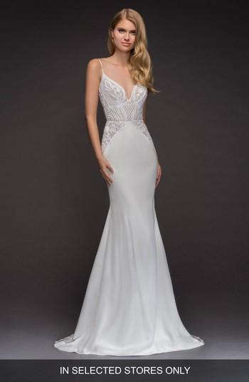 39272cd3a4f4 Blush By Hayley Paige Xenia Beaded Crepe Mermaid Gown #2845347 ...