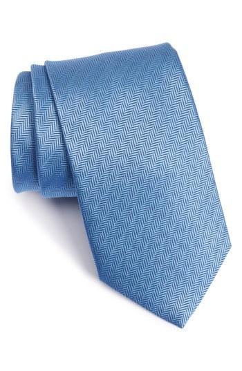 زفاف - Eton Herringbone Textured Silk Tie