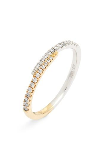Свадьба - Bony Levy Diamond Overlap Stacking Ring (Nordstrom Exclusive)