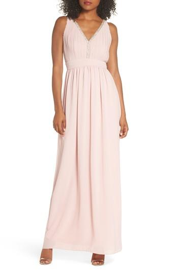 Wedding - TFNC Sallie Open Back Chiffon Gown