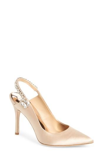 Wedding - Badgley Mischka Paxton Pointy Toe Slingback Pump (Women)