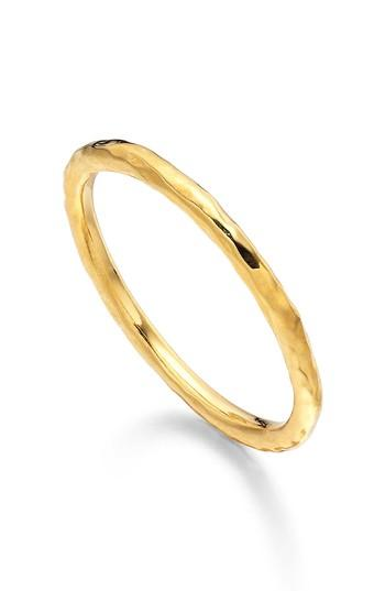 Hochzeit - Monica Vinader Siren Hammered Stacking Ring