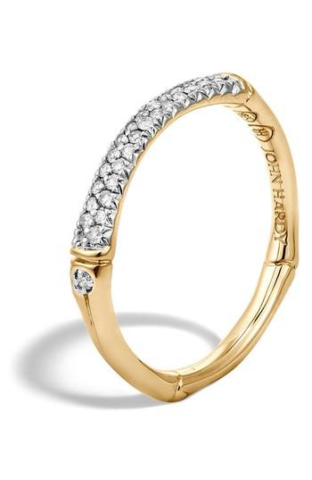 Boda - John Hardy Bamboo Gold Diamond Pavé Slim Band Ring