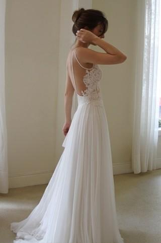 Wedding - White Backless Wedding Dress ♥ Simple & Chic Backless Wedding Dress