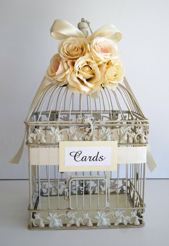 Vintage Wedding Birdcage Guestbook