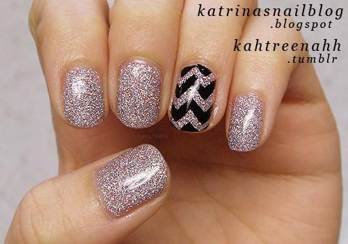 Wedding - ZigZag Tipped Nail Designs ♥ Wedding Nail Art