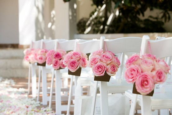 Rose Wedding - Wedding Pew Decoration #791328 - Weddbook