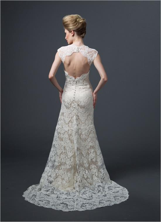 image of Kelly Hole Wedding Dress Back By Sareh Nouri
