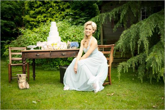 Mariage - Robe de mariée bleue